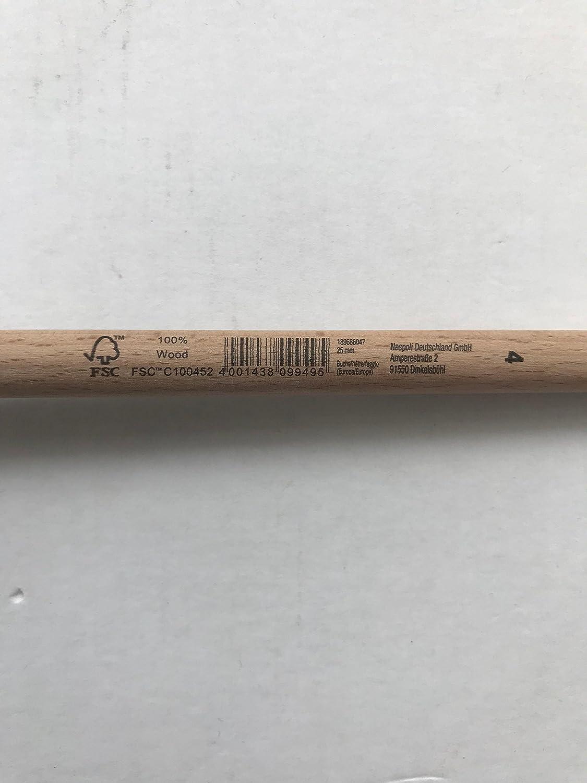 5 x Nespoli Ringpinsel ECO schwarz 25mm 1000-410