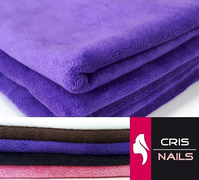 Crisnails® Toallas de Microfibra Secado Rápido para Peluquería Paquete de 3, 35cm x 75cm, Varias Colores (Pack-3, Morado): Amazon.es: Hogar