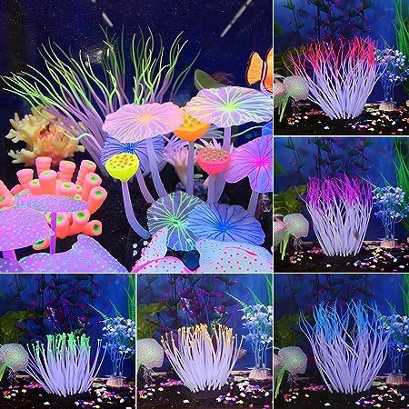 Danigrefinb Acuario Fish Tank Decoraciones Falso Acuario Planta Agua Coral Ornamento Pecera Plástico Decoración No tóxica: Amazon.es: Productos para ...