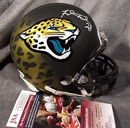 4f2f81bf50d Fred Taylor Autographed Signed Jacksonville Jaguars Mini Helmet JSA Witness  COA Hydro Dipped