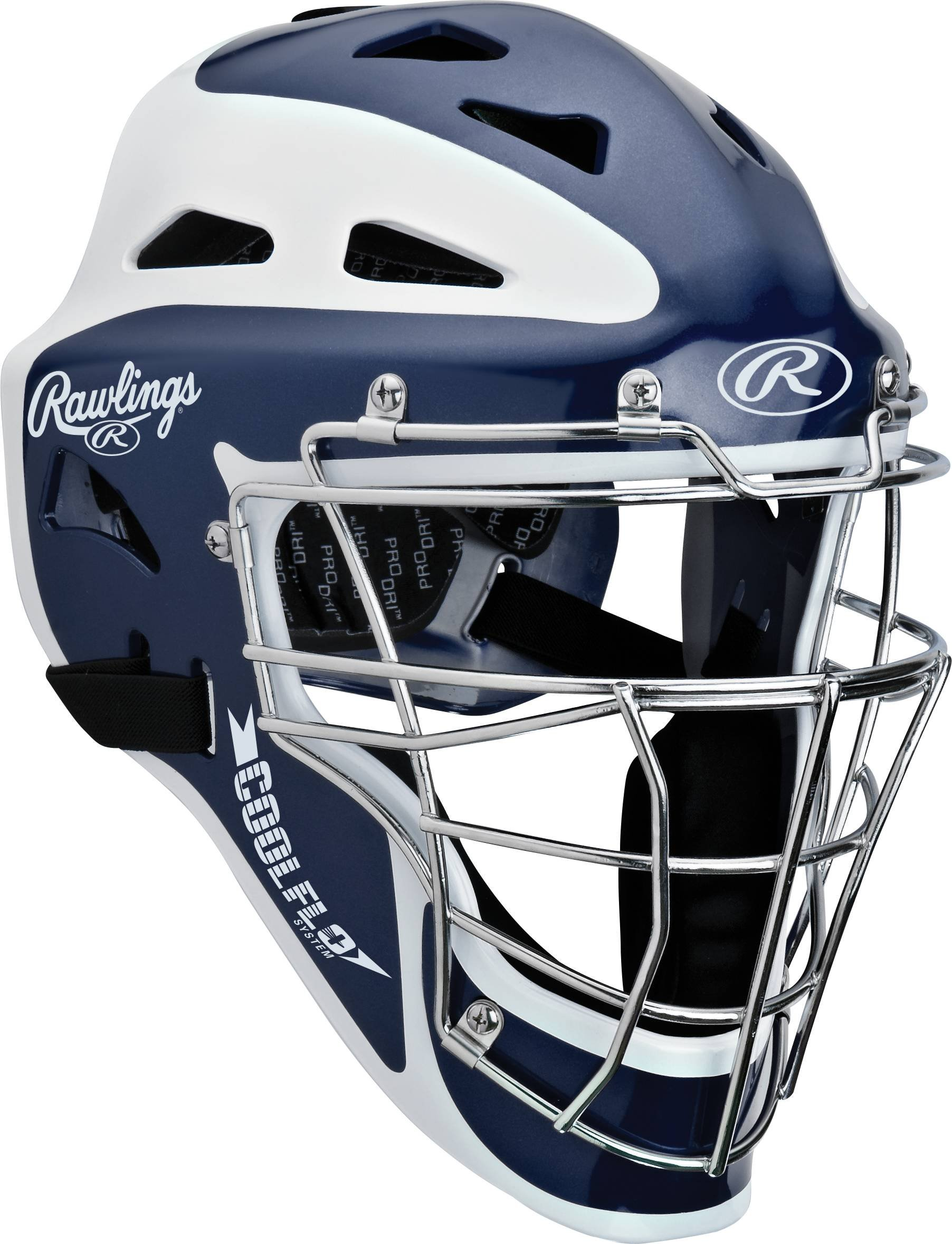 Rawlings Two-Tone Translucent Matte Hockey Style Catchers Mask, Navy by Rawlings