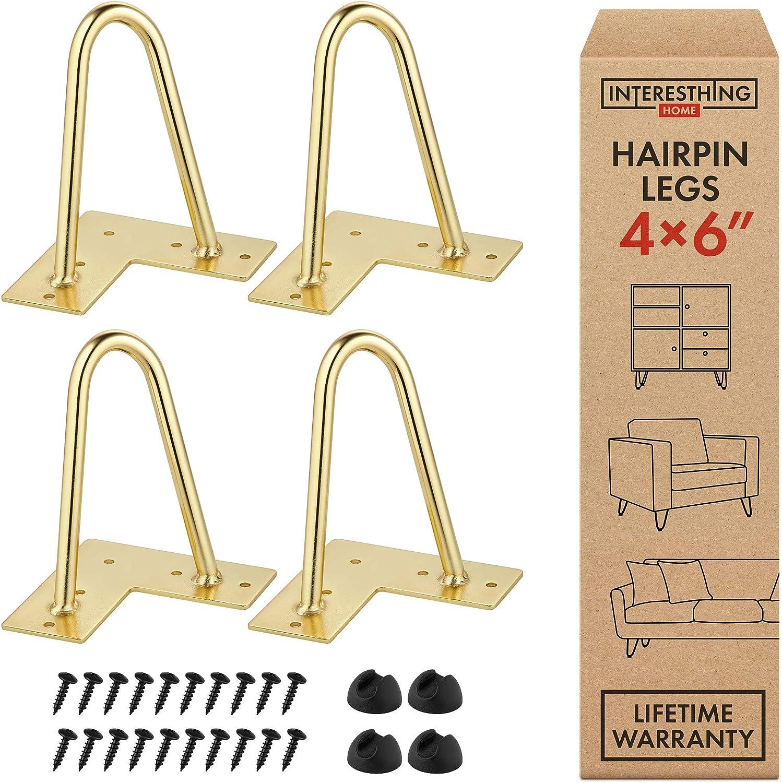 Gold Metal 24 Inch Hairpin Legs Per Leg