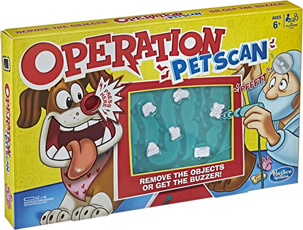 Operation Pet Scan board game for kids in package