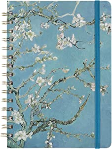 """Ruled Journal/Notebook- Lined Journal, 6.3"""" X 8.35"""", Hardcover, Back Pocket, Strong Twin-Wire Binding with Premium Paper, College Ruled Spiral Notebook/Journal, Perfect for School, Office & Home"""
