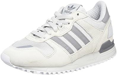uk availability d723b f953e adidas ZX 700, Baskets Basses Mixte Adulte, Blanc (Clear Onix Grey