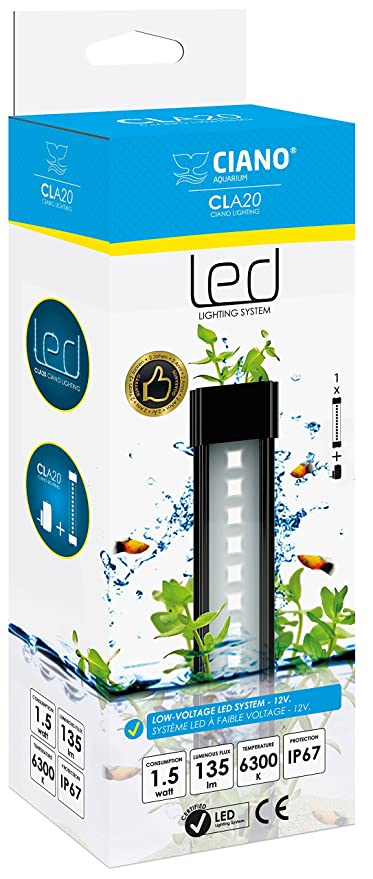 Ciano Acuario Lighting Cla iluminación/convertidor para acuariofilia Negro 20