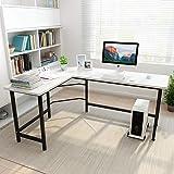 Coleshome L-Shaped Desk Corner Computer Desk PC