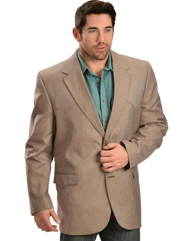 Circle S Men's Textured Western Sport Coat Brown 42 T