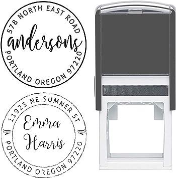 personalized SELF INKING adress stamp small stamp Caligraphy Stamp ink stamp wedding address custom return address stamp large stamp