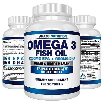 Omega 3 Fish Oil 2250mg - High EPA 1200MG + DHA 900MG Triple Strength Burpless Capsules