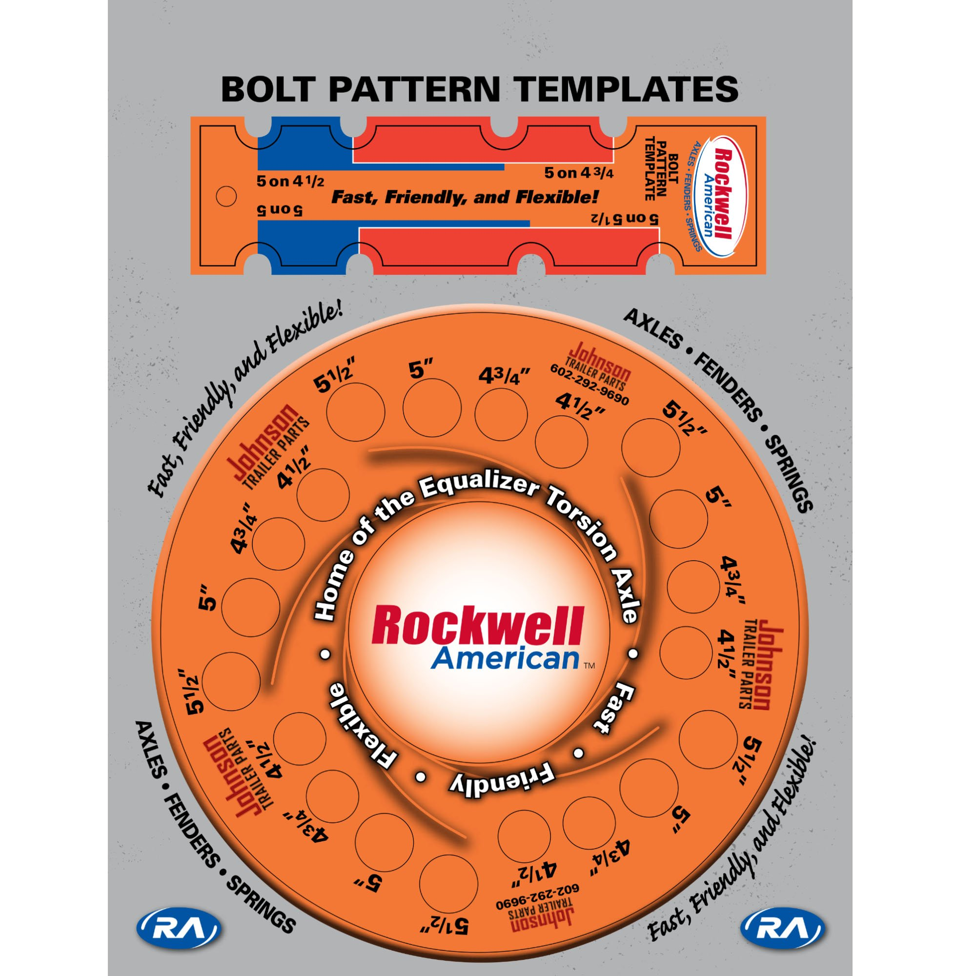 Johnson Trailer Parts 5 Lug Bolt Pattern Template