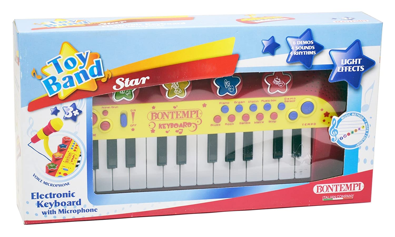 amazoncom bontempi electronic keyboard with microphone toys  games -