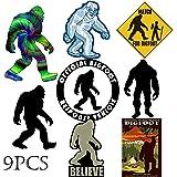Kilmila Bigfoot Stickers Decals Gifts.(9PCS 2.7-4.0''). Bigfoot Gifts Sticker Bigfoot Toys Stickers Vinyl Decal Sticker…