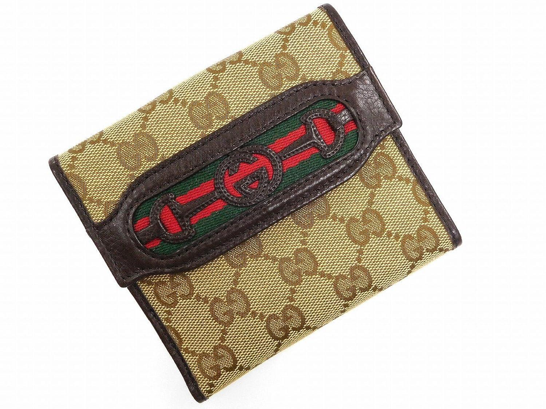 [グッチ] GUCCI 二つ折り財布 GGキャンバス キャンバス×レザー X16227 中古 B076DZ1WSR