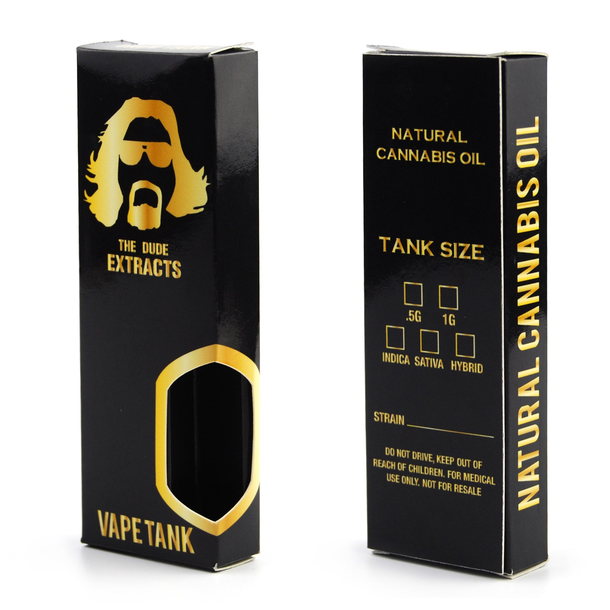 25 The Dude Extracts King Sized Tip Window Display Concentrate Boxes VB-009
