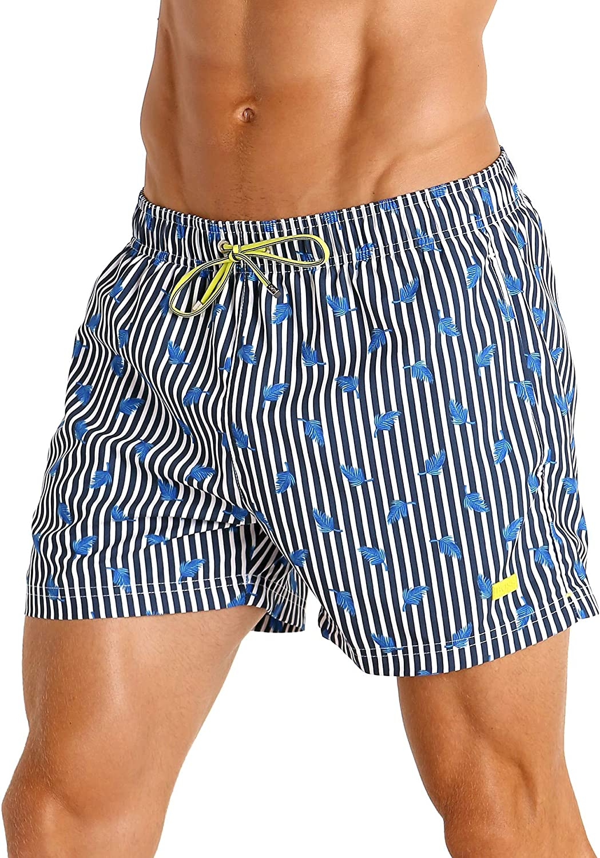 Hugo Boss Palmfish Swim Shorts Navy Stripes