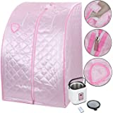 KOVAL INC. 2L Portable Steam Sauna Tent SPA Detox Weight Loss W Chair Color Opt