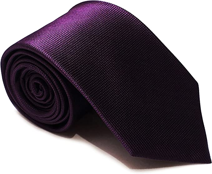 Corbata de nudo grande - Púrpura Sólido - 7 pliegues - Siete ...