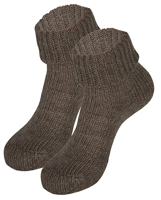 Tobeni 2 pares Homesocks calcetines de las mujeres con manta de lana de alta calidad, Color:Light Brown;Size:UK 6-8 / EU 39-42: Amazon.es: Ropa y accesorios