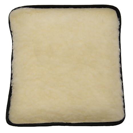 Hotties - Bolsa de agua caliente (apta para microondas, forro de lana de cordero acrílico, color crema)