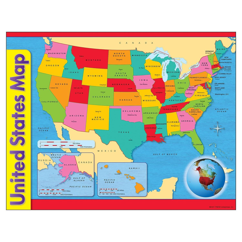 Amazoncom Trend Enterprises Inc United States Map Learning