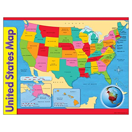 Amazon Com Trend Enterprises Inc United States Map Learning