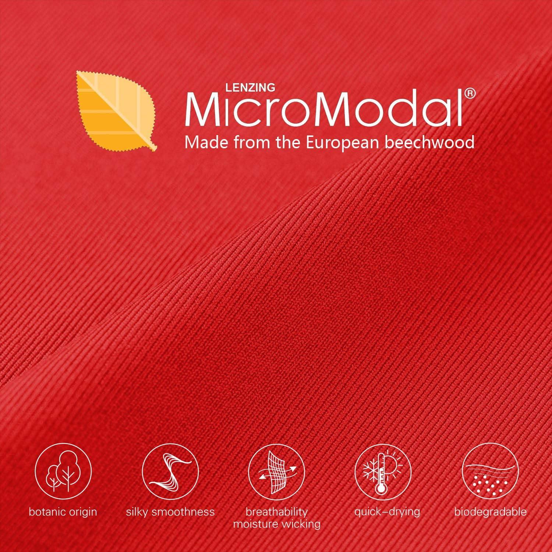 CHOHB Mens Underwear Lenzing Micro Modal 3 Pack Boxer Briefs Men Fly