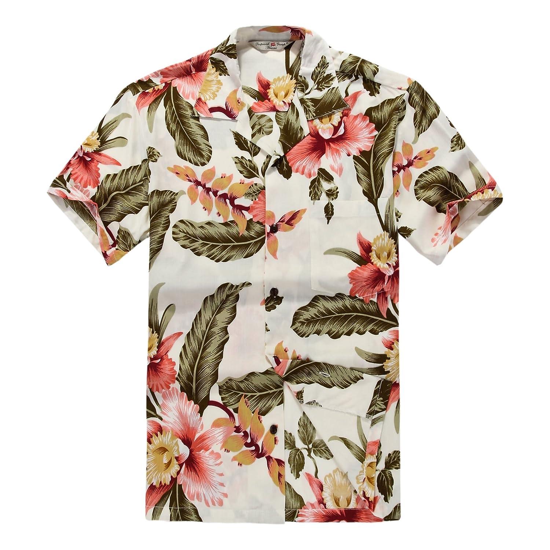 Matching Father Son Hawaiian Luau Outfit Men Shirt Boy Shirt Shorts Cream Rafelsia