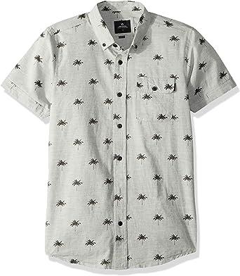 Rip Curl Hombre Playera Payday S/S Manga Corta Camisa de Botones - Gris - X-Large: Amazon.es: Ropa y accesorios