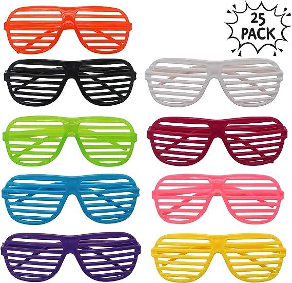 The Twiddlers 25 Gafas De Sol De Persiana Para Granel Fiestas De Juguete Gafas De Sol Disfraz Gafas De Persiana Para Fiesta Disfraces - Rellenos Para Bolsas De Fiesta - Regalos De