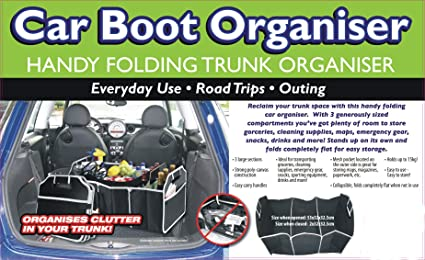 Heavy Duty Tools Carrier Box Car Trunk Boot Organizer Organiser Tidy Bag Waterproof Car Boot Storage For FORD B-Max Durable