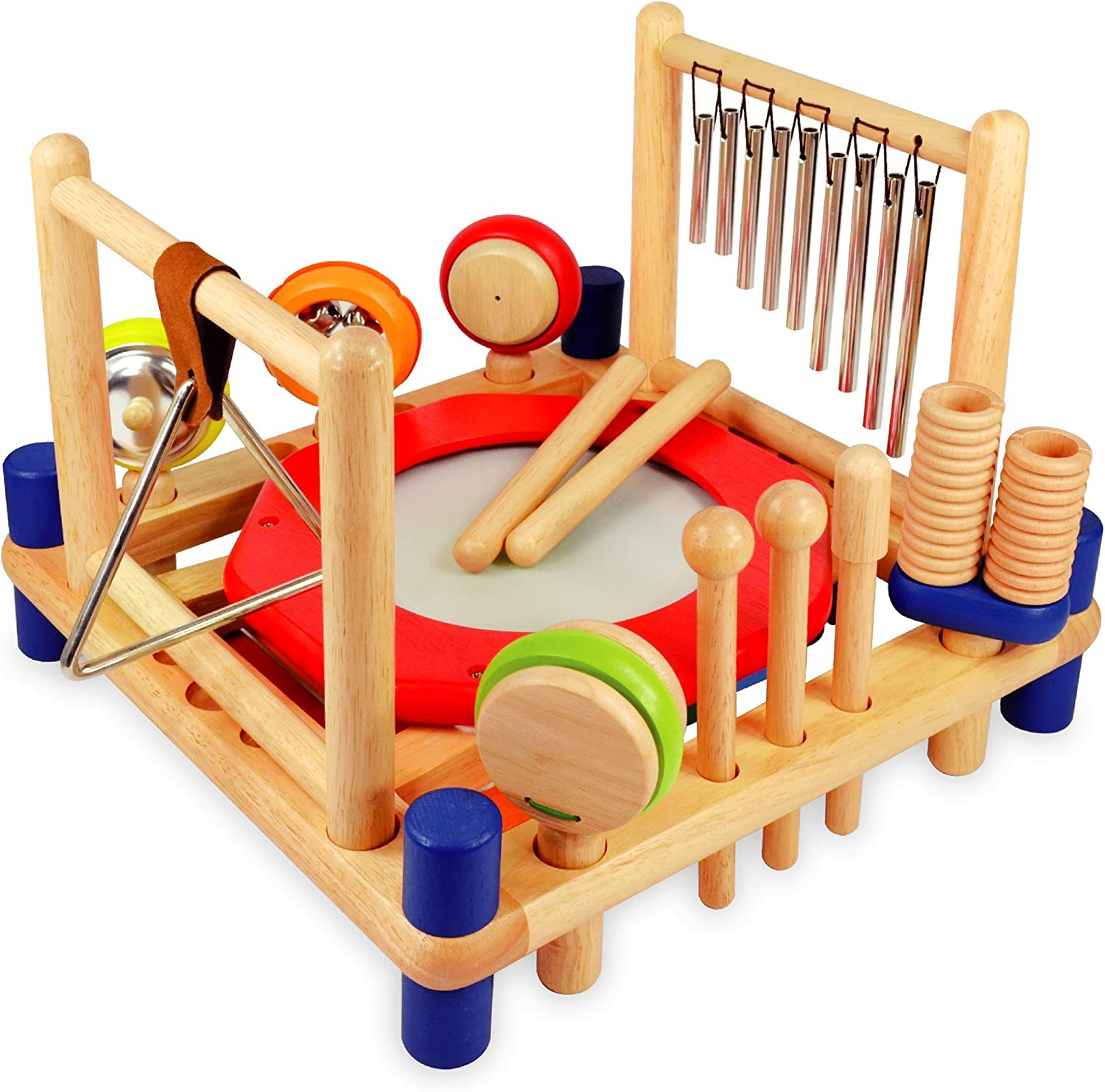 15X Wooden Kids Music Instruments Kit Children Toddlers Toys Percussion Set Bag