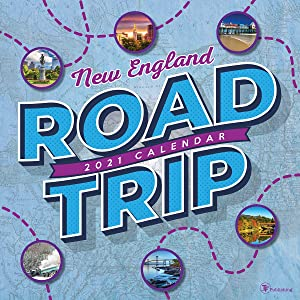 """TF PUBLISHING 2021 Road Trip: New England Monthly Wall Calendar - Travel Map - Northeastern Region - Appointment - Contacts Notes Page - Home/Office Planning/Organization - Premium Gloss Paper 12""""x12"""""""