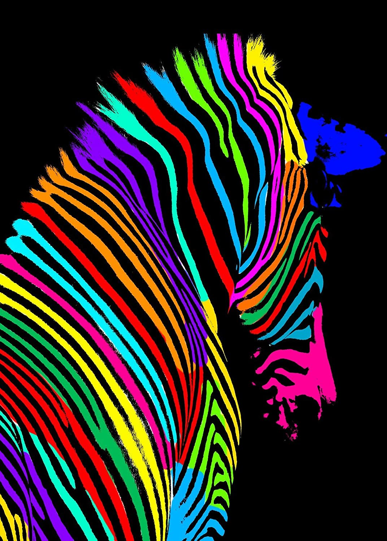 Artis 609172 Zebra Pop Art Stampa Artistica su Vetro, Decorazione a Pois, 45 x 30 x 1,2 cm Ceanothe