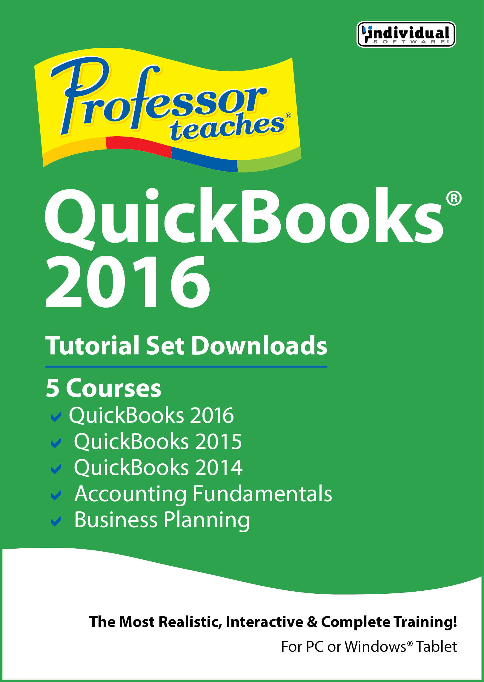 Professor Teaches QuickBooks 2016 Tutorial Set Download [Download]