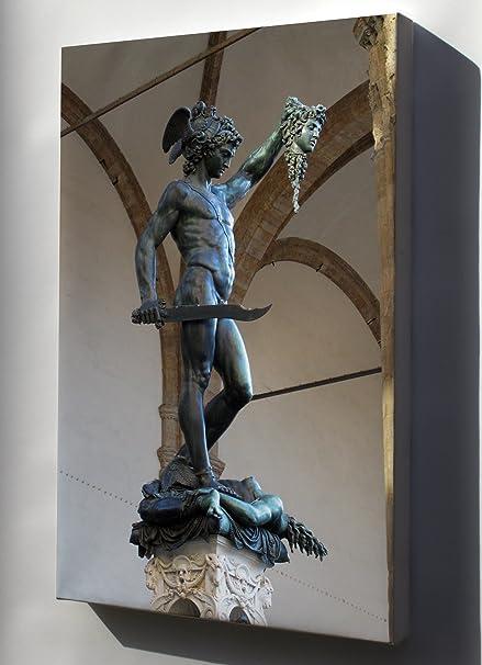 Amazon Com Canvas 24x36 Perseus With The Head Of Medusa
