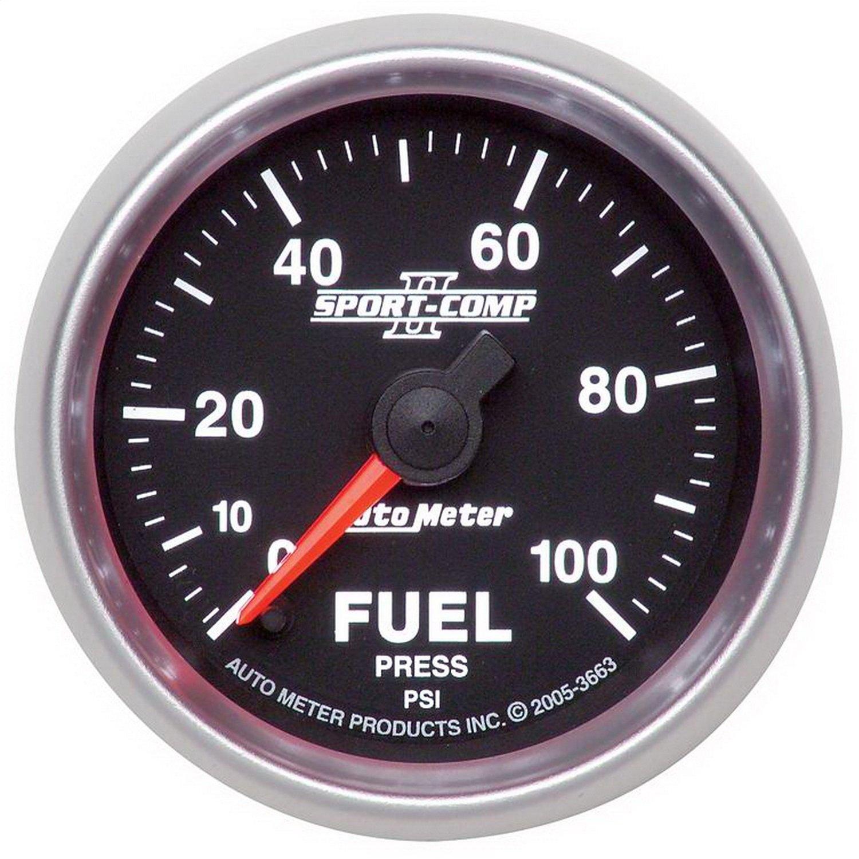 Auto Meter 3663 Sport-Comp II Fuel Pressure Gauge by Auto Meter (Image #1)