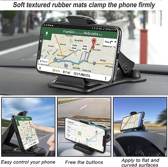 Huawei Mate 20 Mate 20 e Dispositivi GPS MOSUO Supporto Smartphone per Auto Cruscotto Universale Porta Cellulare Auto con Adesivo 3M per Telefono per iPhone XS Max//XS//XR//8//8 Plus