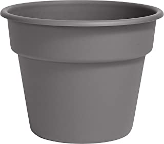 "product image for Bloem DC6-908 Dura Cotta Planter 6"", Charcoal Gray"