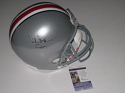 5253246414b Archie Griffin Heisman Trophy Winner Autographed Ohio State Buckeyes Full  Size Replica Football Helmet JSA Cert
