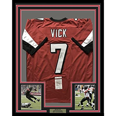 952dec5b5a8 Signed Michael Vick Jersey - FRAMED MIKE 33x42 Red COA - JSA Certified - Autographed  NFL