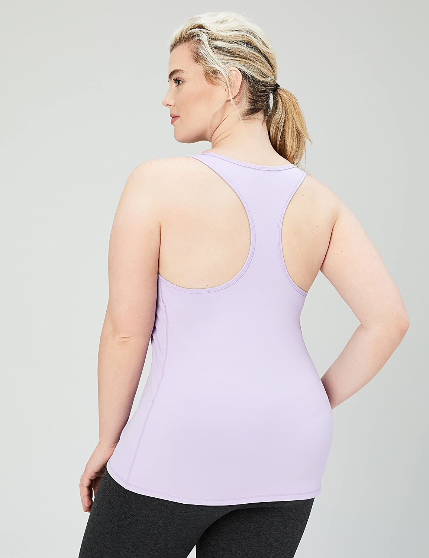 Lavender X-Large Core 10 Womens Fitted Racerback Yoga Tank Shirt Purple