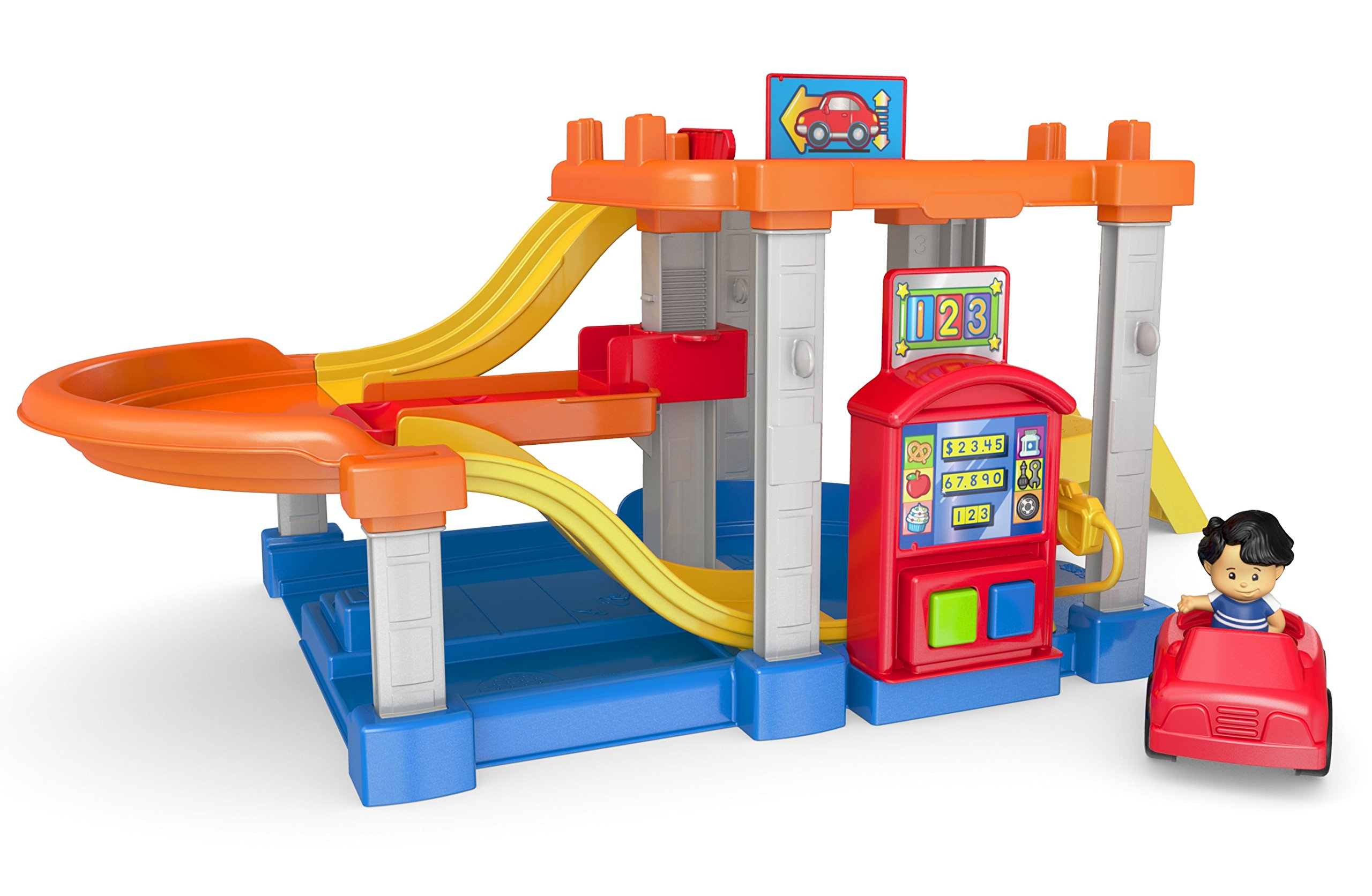 Fisher Price CHF61 Little People Rollin' Ramps Garage Baby Toy