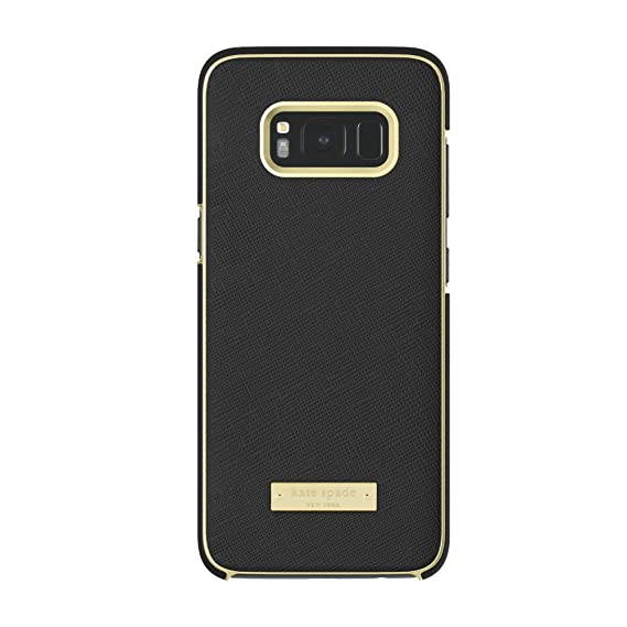new product a6ccd 09873 kate spade new york Wrap Case for Samsung Galaxy S8 - Saffiano Black