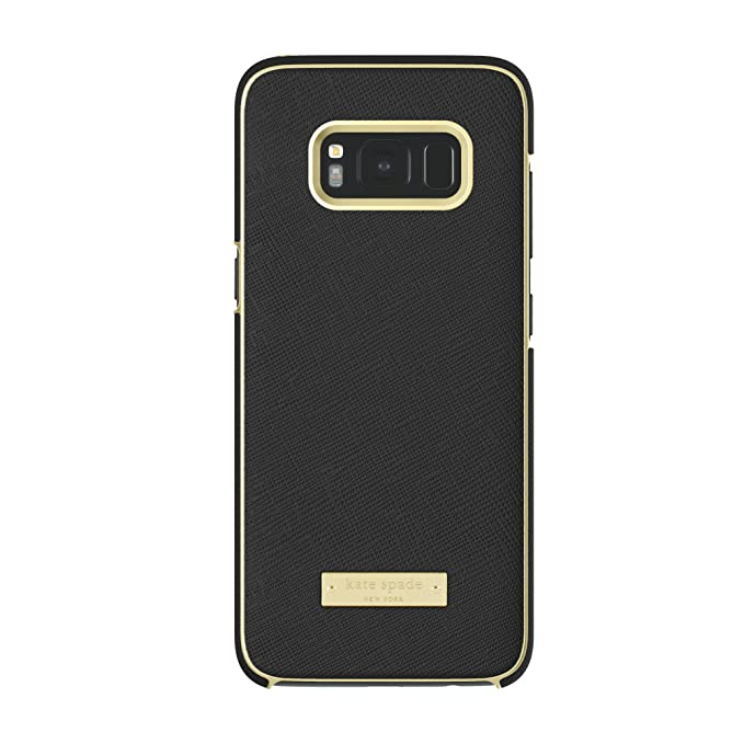 new product f9e92 a4f80 kate spade new york Wrap Case for Samsung Galaxy S8 - Saffiano Black