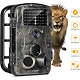 LESHP Hunting Trail Camera, Motion Activated Game Trailcam Wildlife Camera with 3 Pir Sensors, Time Lapse 2.4 Inch LCD, No Glow 42pcs Leds, 12MP, 1080p HD Infrared Night Vision IP54