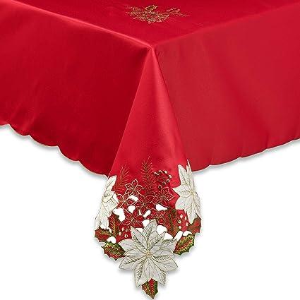 Merveilleux Amazon.com: Kori Poinsettia 60 Inch X 84 Inch Oblong Tablecloth In Red:  Home U0026 Kitchen