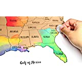 Watercolor United States Of America Scratch Off Map Usa 16 X 20
