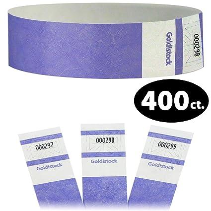 80afdca4c6ea Goldistock Select Series - Extra Wide Super Strong Tyvek Wristbands  Lavendar Light Purple 400 Count -