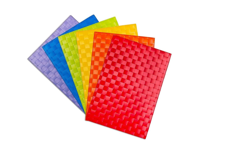 Multicolore Excelsa Intrecci Set Tovagliette Polipropilene 30x42.5x0.2 cm 6 unit/à